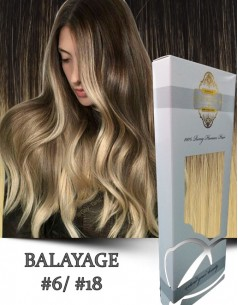 Clip-On WhitePlatinum Balayage 6 cu 18