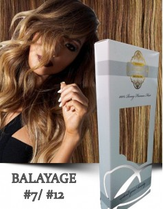 Clip-On WhitePlatinum Balayage 7 cu 12