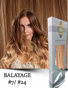 Clip-On WhitePlatinum Balayage 7 cu 24
