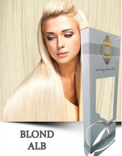 Easy Clip-On Silver Blond Alb