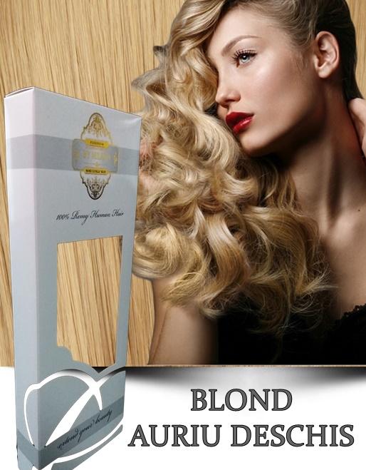 Clip-On WhitePlatinum Blond Auriu Deschis