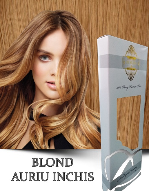 Extensii la Metru Bronz Blond Auriu Inchis