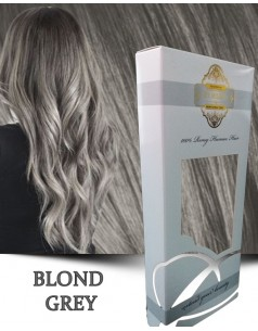 Easy Clip-On Silver Blond Grey