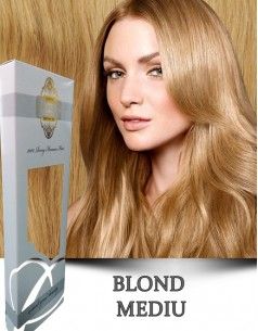 Clip-On WhitePlatinum Blond Mediu