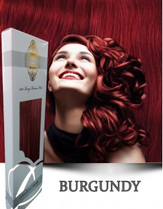 Clip-On WhitePlatinum Burgundy