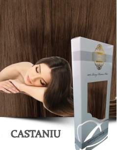 Clip-On WhitePlatinum Castaniu