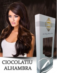 Clip-On WhitePlatinum Ciocolatiu Alhambra