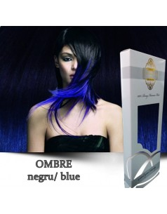 Easy Clip-On Silver Ombre Negru Blue