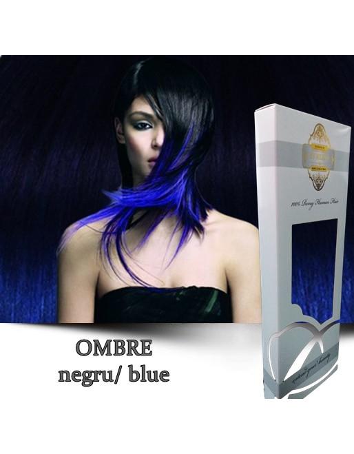 Coada cu Dubla Intrebuintare Gold Ombre Negru Blue