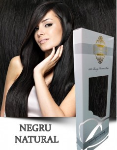 Easy Clip-On Silver Negru Natural