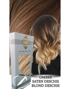 Clip-On WhitePlatinum Ombre Saten Deschis Blond Deschis