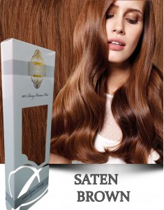Clip-On WhitePlatinum Saten Brown