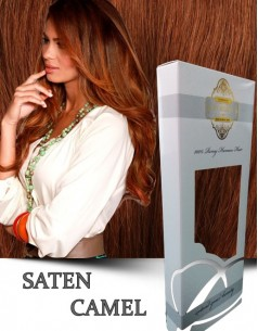 Clip-On WhitePlatinum Saten Camel