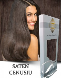 Clip-On WhitePlatinum Saten Cenusiu