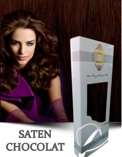 Clip-On WhitePlatinum Saten Chocolat