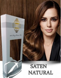 Clip-On WhitePlatinum Saten Natural