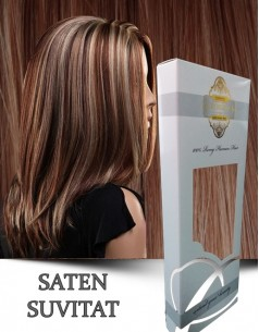 Clip-On WhitePlatinum Saten Suvitat