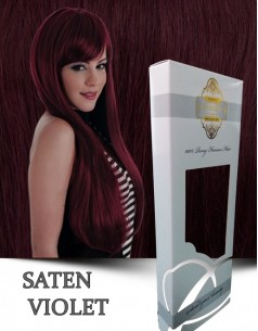 Clip-On WhitePlatinum Saten Violet