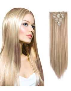 Clip-On Drept Sintetic Blond Suvitat